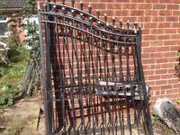 Heavy duty steel gates