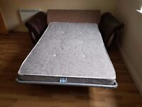 BED SETTEE 2 SEATER SOFA, CHAIR AND STORAGE POUFFE