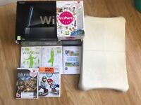 Black Wii Bundle including Wii Fit, Mariokart and Wii Party