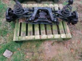 BMW E36 complete rear axle assembly
