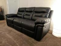 DFS Evolution (now appears to be Lyon on the website) 3 & 2 seater manual recliner sofas in black