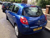 Blue renault clio dynamique car 2008