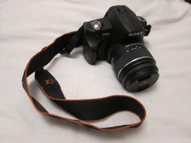 Sony Alpha A230 10.2MP digital SLR camera - with 18-55mm f3.5/5.6 lens, LowePro bag etc- immaculate