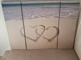 Beach heart canvas
