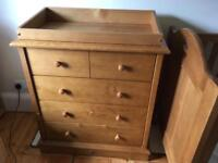 Boori chest of drawers with changing top