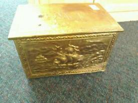 Brass coal chest #32876 £15