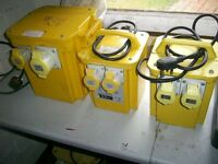 3 X TRANSFORMERS 110V 1 OF 5.5 KVA AND 2 OF 3.3KVA