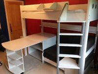 Stompa High bed with pull out desk and sofa / pull out bed