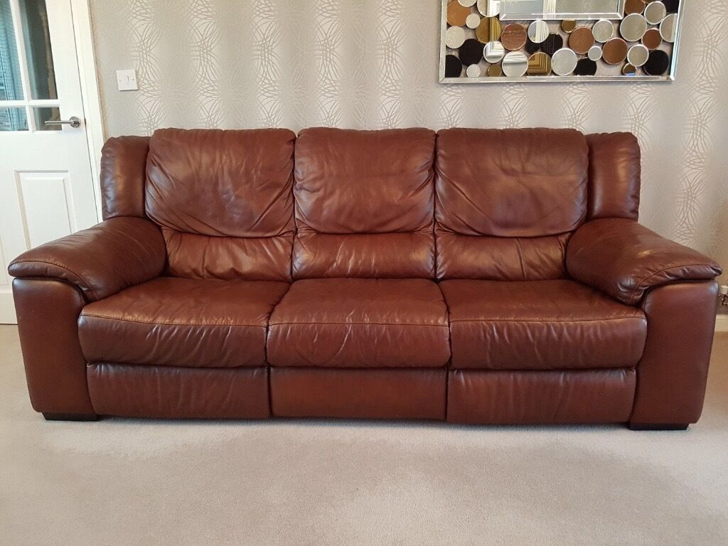 leather sofa made by domicil in crewe cheshire gumtree. Black Bedroom Furniture Sets. Home Design Ideas