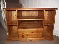 T.V. Cabinet Solid Wood Golden Pine