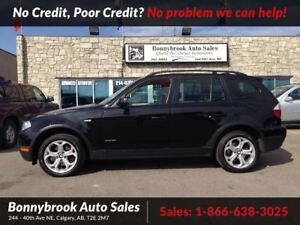 2009 BMW X3 30i leather w/bluetooth p/ sunroof
