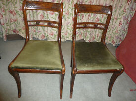 Pair of Vintage (Antique?) dining room chairs