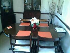 Reproduction dining table and chairs