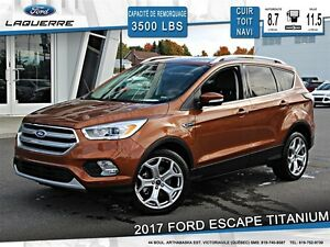 2017 Ford Escape **TITANIUM*AWD*CUIR*TOIT*NAVI*CAMERA*CRUISE*A/C