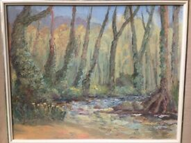Lamorna Stream And Woods Oil Painting