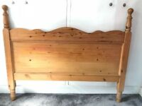 Used solid pine hand crafted double headboard