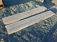 Pair of 6ft ifor williams trailer loading ramps