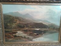 LARGE PRINT OF SIDNEY RICHARD PERCY 1874 IN MID CENTURY FRAME