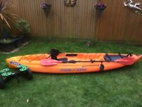 Ocean Kayak - Caper. Excellent Condition. Hardly used hence sale. With paddle, wheels, multi storage