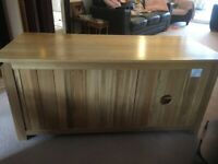 Solid oak TV table for sale