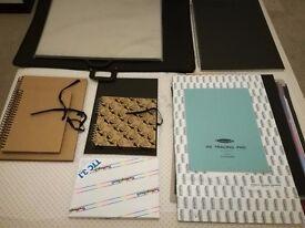 Art paper, sketchbooks and portfolios