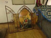 Gothic wrought iron mirror