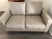 Stone/grey coloured John Lewis 2-seater sofa