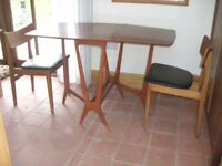 Drop leaf dining table & 2 chairs.