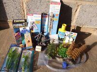 Aquarium Accessories including filter and heater