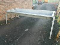 Double cattle cow feeding trough fully galvanised tractor