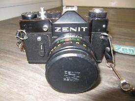Zenit TTL 35mm Reflex camera, accessories + 135mm & 200mm Lenses