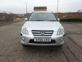 2006 HONDA CRV 2.0 PETROL AUTOMATIC,FULL YEAR MOT,SERVICE HISTORY,2 KEYS,2 OWNER,FULLY LOADED