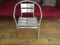 Aluminium chairs for catering cafe bistro and garden 26 chairs