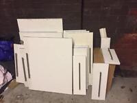White high gloss kitchen cupboard doors