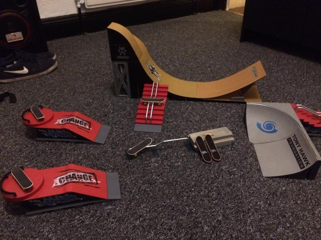 Tech Deck / StuntX Ramps And Skateboards