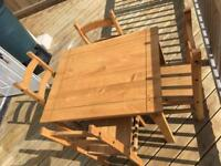 Fantastic table and 4 chairs for sale