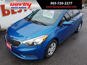2014 Kia Forte 1.8L LX BLUETOOTH, SATELLITE RADIO, MP3 INPUT