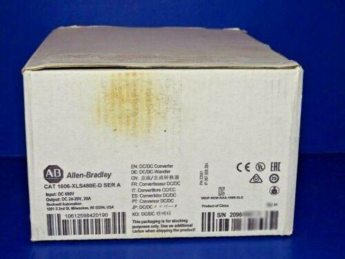 2021 NEW IN ORIGINAL BOX Allen Bradley 1606-XLS480E-D Series A Power Supply