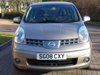 NISSAN NOTE 1.4 ACENTA 5d 88 BHP 1 PREVIOUS KEEPER + MOT JAN 2019 SERVICE RECORD + BLUETOOTH +
