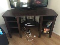 Corner desk - IKEA, brown, shelving space, 120x73 cm