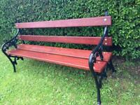 Gorgeous cast iron garden bench