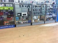 4 Display UNIT for Mobile Shops (Like New) Full Glass Display