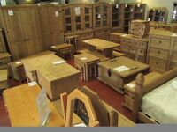 New SOLID Corona Mexican pine TV cabinets Bookcases Dining sets Sideboards dressers Nests of tables