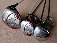 LADIES GOLF CLUBS PING CALLAWAY DRIVER & 5 7 9 WOODS & RESCUE CLUB