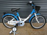 CHILDS BIKE IN EXCELLENT ALMOST NEW CONDITION WITH STABILISERS.. (SUIT APPROX. AGE. 4 / 5+)..