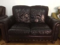 2 leather sofas in good condition. Need to be gone by Sunday.