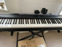 Yamaha P-95 Digital Piano with Stand, Sustain Pedal, Music Stand, and Piano Stool