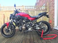 Yamaha MT07 with ABS