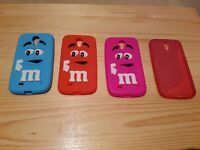 4 Soft silicone M&M chocolate case cover. Samsung Galaxy S4