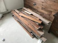Job lot of solid wood flooring around 30 - 40 meters